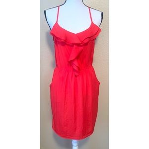 Lush size small red midi dress with pockets